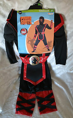 Mighty NINJA POWER SUIT ~ COSTUME ~ TODDLER 2T ~ NEW