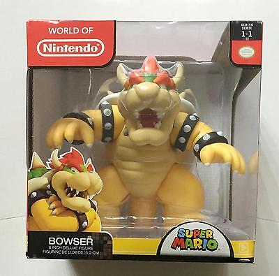 """World Of Nintendo Bowser 6"""" Deluxe Action Figure Super Mario Brand New"""