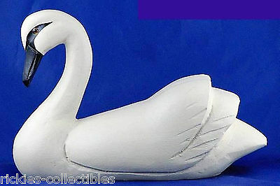 Duck Decoy - Hand-made of Wood - White Swan