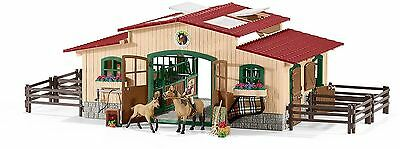 SCHLEICH Horse Stable 42195 Riding Centre + Rider Horses Accessorie Farm World