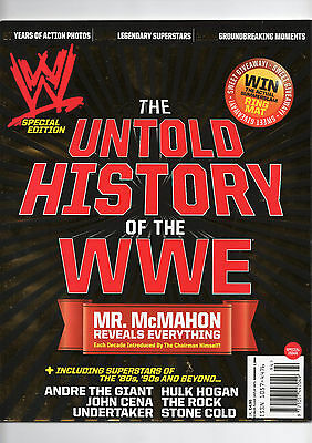 WWF/WWE SPECIAL MAGAZINE THE UNTOLD HISTORY OF WWE/McMAHON REVEALS ALL/CENA/ROCK