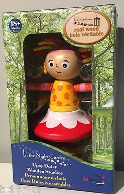 New In The Night Garden UPSY DAISY WOODEN STACKER Real wood