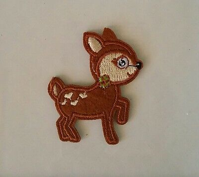 Reindeer Cute Iron On Sew On Motif Patch Iron On Sew On Christmas