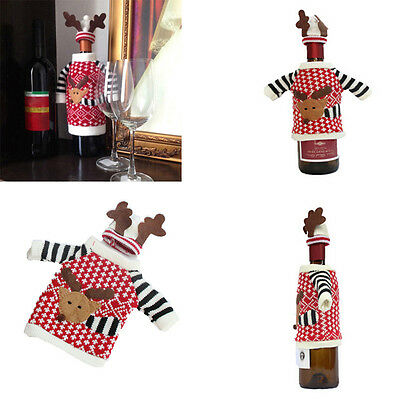 Santa Wine Bag Bottle Cover Deer  Table Decor Christmas Gifts Caps Carriers