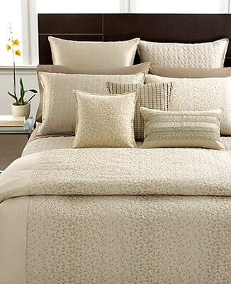 NEW Hotel Collection Celestial Gold Champagne KING Bedskirt MSRP $175