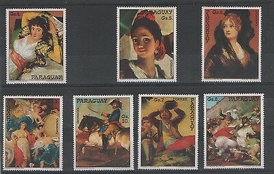 Paraguay stamps MNH paintings ART 0144