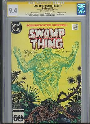 * SWAMP THING #37 CGC 9.4 SS Signed TOTLEBEN, VEITCH Constantine (1276915001) *