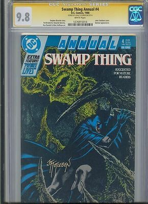 * SWAMP THING Annual #4 CGC 9.8 SS Signed TOTLEBEN BATMAN (1276915014) *