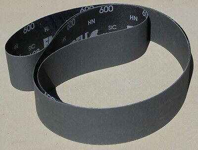 "2"" x 72"" Silicon Carbide S/C  S. Fine Sanding Belts, Equals P1200 Grit- 5 Belts"