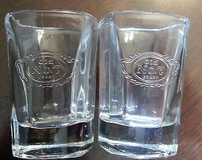 2SHOT GLASSES ******JACK DANIELS OLD No.7 SHOT GLASSES