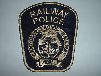Canadian Pacific (type 4) Railway Police CLOTH SHOULDER PATCH USA