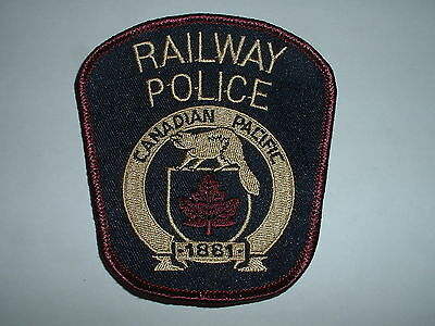 Canadian Pacific (type 6) Railway Police CLOTH SHOULDER PATCH Canada