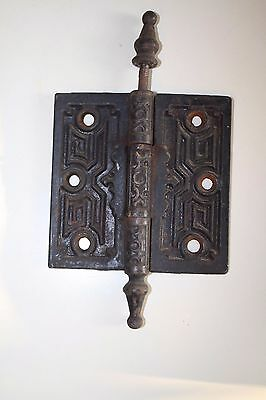 "Antique Ornate Cast Iron Victorian Door Hinge 4"" x 4"""