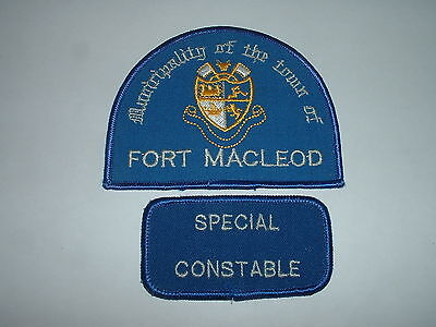 Fort Macleod Special Constable Police CLOTH SHOULDER PATCH Alberta Canada