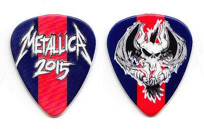 Metallica James Hetfield Red/Blue Racing Stripe Vulturus Guitar Pick 2015 Tour
