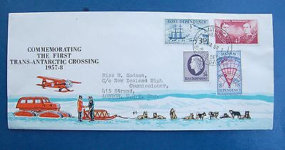 940-16  Ross Dependency First Trans-Antarctic Crossing 1958 Addressed Cover