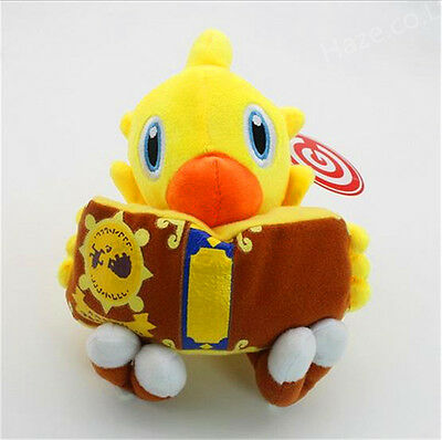 """Final Fantasy Chocobo 7"""" Stuffed Animal Chick with book  Plush Toy"""