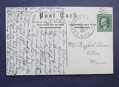 """914-16  Lacroose and Woons. RPO June 30 1909 TR 1 JW """"Maybe"""" Postcard"""