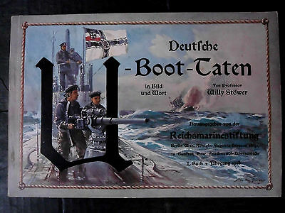 1916 German Wwi Imperial Navy U-Boat Art Book By Willy Stöwer The Kaisers Artist