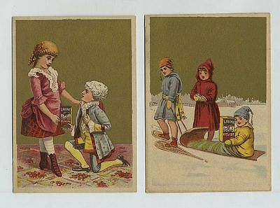 (2) 1800's Advertising Trade Cards Lavine Soap Hartford CT Chemical Co cv5897