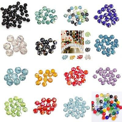 Lots Glass Crystal Faceted Rondelle Spacer Loose Beads 6/8/10/12/14/16/18mm Good