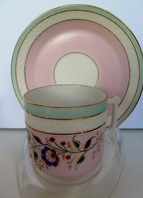 Beautiful Antique hand painted Austria  demi tasse cup and saucer  8153
