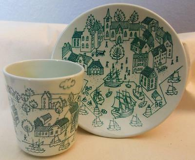 Nymolle Art Faience Hoyrup Plate and Cup L/E Made in Denmark