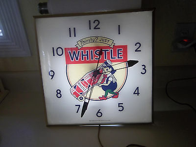 Vintage  Whistle soda Pam Clock