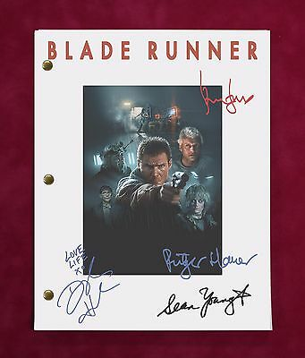 """Blade Runner Movie Script W/ Reproduction Signatures Ford Hauer & Young """"c3"""""""