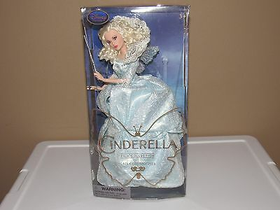 New Fairy Godmother Disney Film Collection Doll- CinderElla-Live Action Film-11""