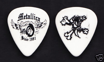 Metallica Winged Wheel Since 1981 White Guitar Pick 2004 St Anger Tour