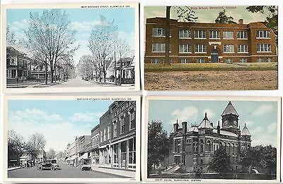6  1910-1920's era Bloomfield  Indiana  Postcards NIce Clean Cards!