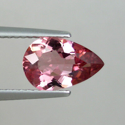 1.53ct  SIZZILING HOT  LUSTROUS PEACH PINK NATURAL TOURMALINE - Pear  !