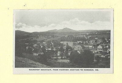 Hancock MD 1908-19 postcard ROUNDTOP MTN FR FAIRVIEW ADDITION Maryland