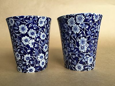ROYAL CROWNFORD, TWO tumblers, Burleigh Calico pattern