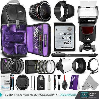 Canon Rebel T5i / EOS 700D Everything You Need Accessory Kit 58MM Lens Bundle