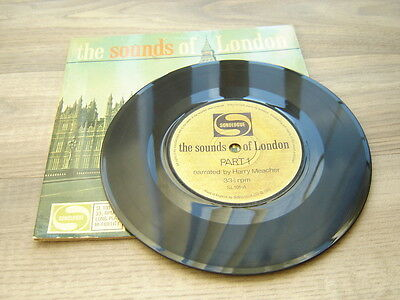 """spokenword 7""""45 field recording ambient THE SOUNDS OF LONDON 1960s soundtrack"""