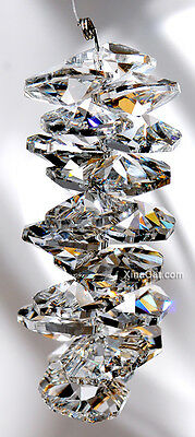 """Octagon Crystal Prism Cluster 130mm 5"""" SunCatcher for Many Rainbows"""