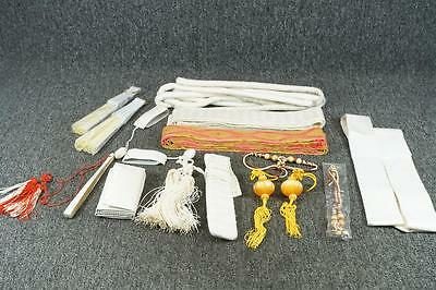 Lot Of Oriental Sashes, Fans, & Festive Dress Items In Box