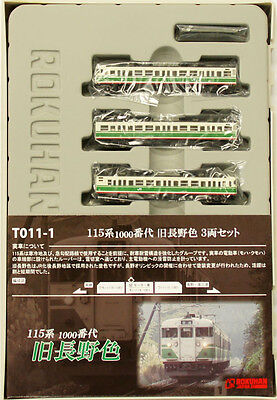 Rokuhan T011-1 Z Scale JR Series 115 Suburban Train Old Nagano Color 3 Cars