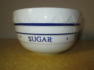 Vintage Mixing Bowl with words Butter Eggs Sugar Flour Salt