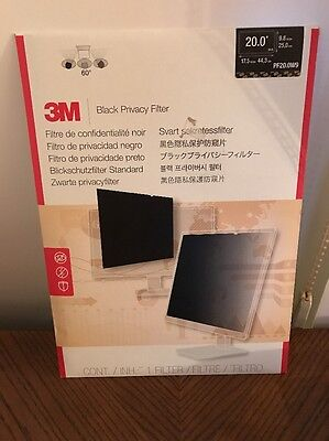 "3M Privacy Filter for Widescreen Desktop LCD Monitor 20.0"" (PF20.0W9)"