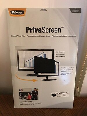 Fellowes PrivaScreen Privacy Filter for 23.0 Inch Widescreen Monitors 16:9 (4807