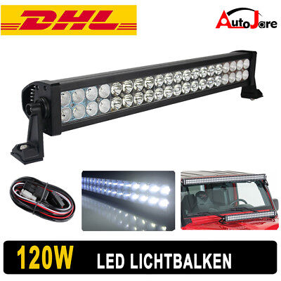 "24"" 120W LED Work light Roof Bar Offroad 4x4 12V 24V Tractor Jeep 4WD Lamp 180W"
