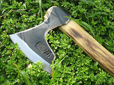 0.92Lbs Forged Wrought Bearded Throwing Axe Viking Tomahawk Hatchet Hunting Tool