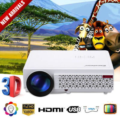 EXCELVAN HD 1080P HOME THEATER PROJECTOR MULTIMEDIA AV/USB/VGA/HDMI/TF-card AU