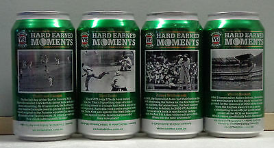 VB Hard Earned Mements 4 cans from the latest VB set bottom open (empty)