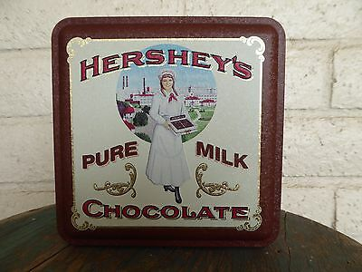 Collectible Hershey's Pure Milk Chocolate Metal Tin Container - Vintage 1992