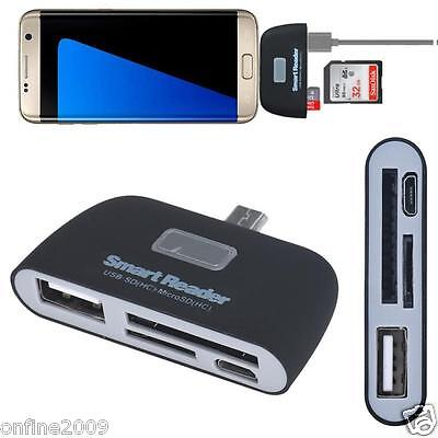 Micro 3 in 1 Memory Card Reader Adapter USE/TF/SD for Samsung Galaxy S7 Edge E