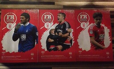 Nottingham Forest Programmes From This Season